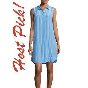 🎉HP🎉 Equipment Silk Shirt Dress ShirtDress NEW